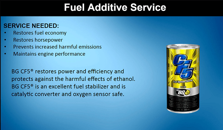 FUEL ADDITIVE SERVICE