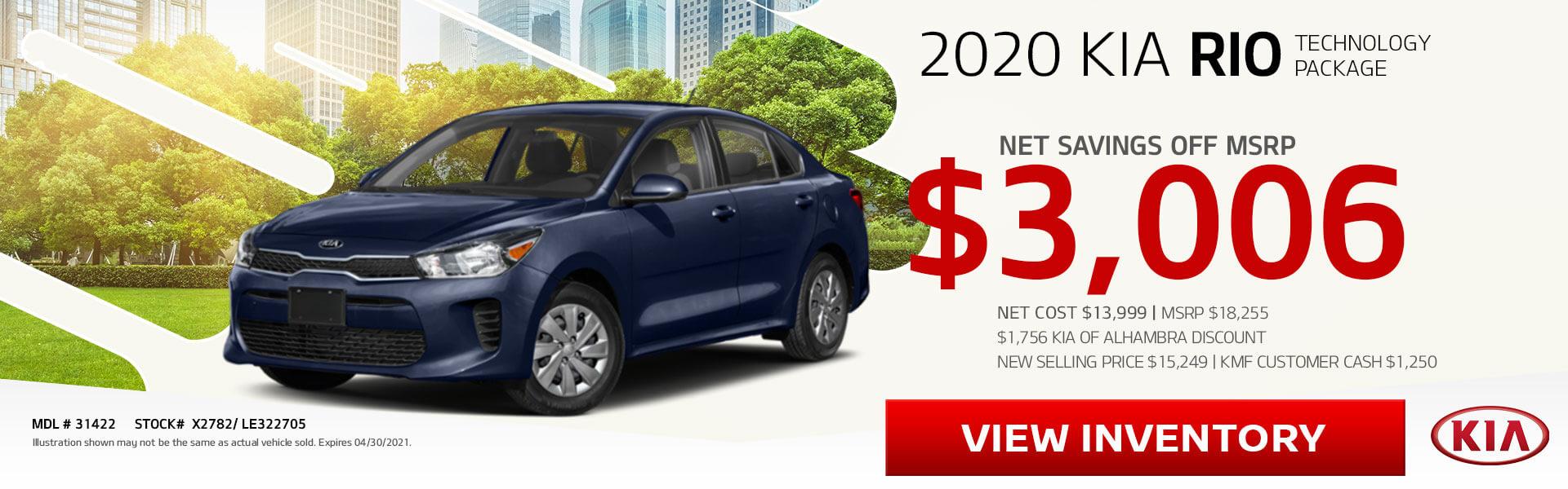 2020 Kia Rio on Sale!