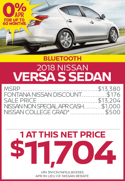 2018 Nissan Versa S Sedan