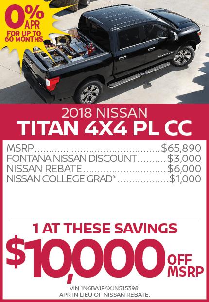 2018 Nissan Titan 4X4 PL CC