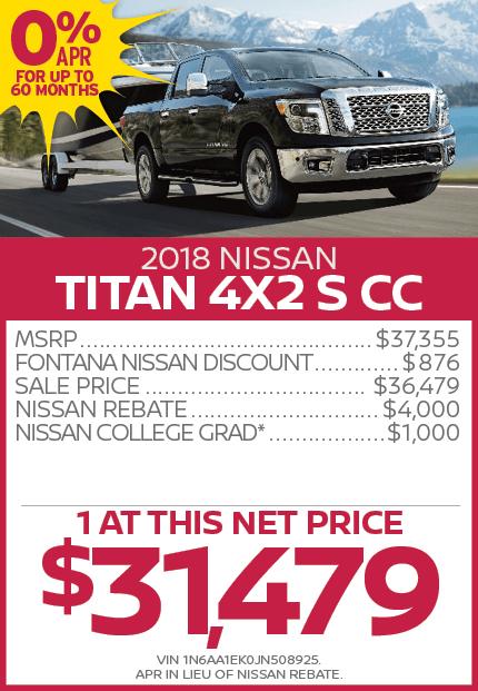 2018 Nissan Titan 4X2 S CC