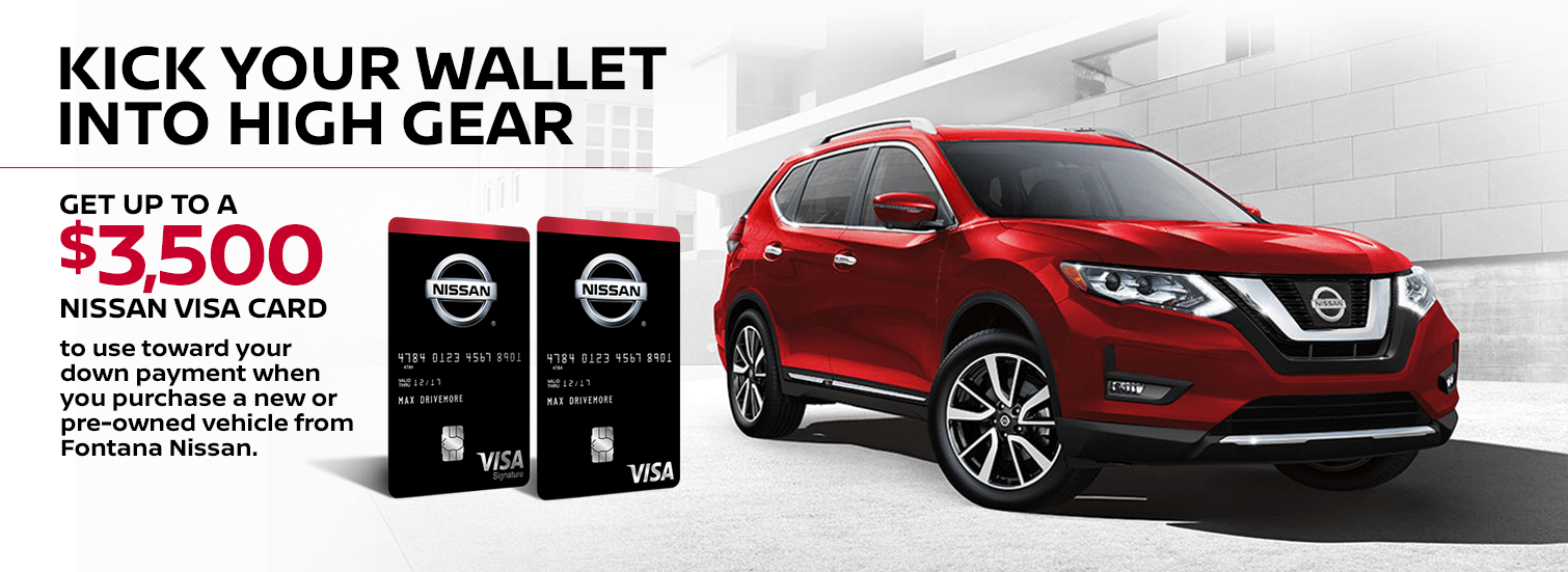 Get up to a $3,500 nissan visa card