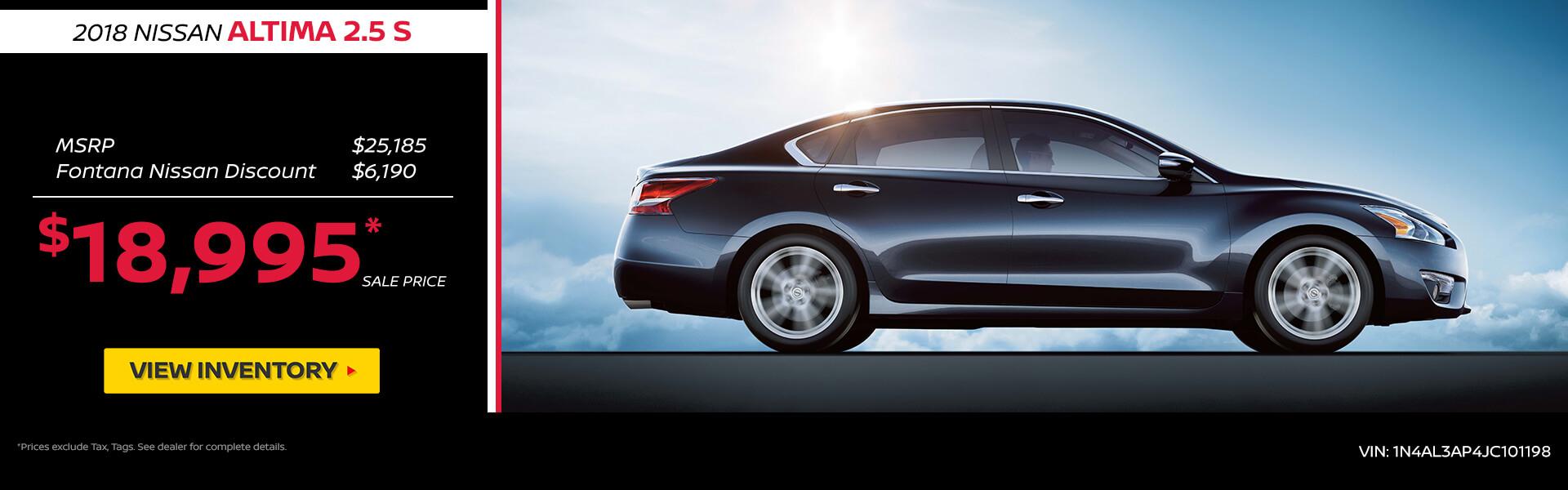 Nissan Altima $18,995 Purchase
