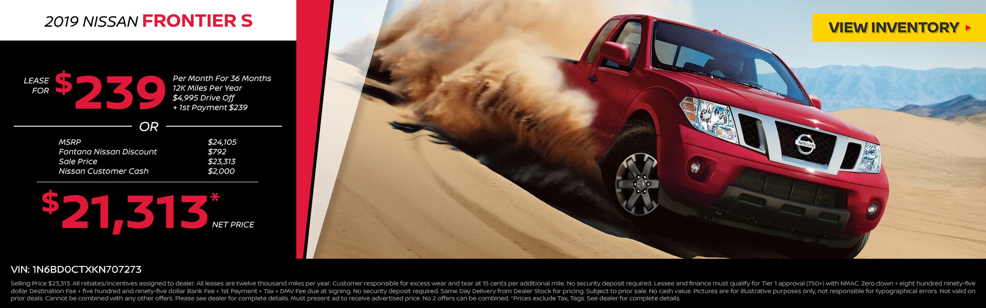 Nissan Frontier $239 Lease