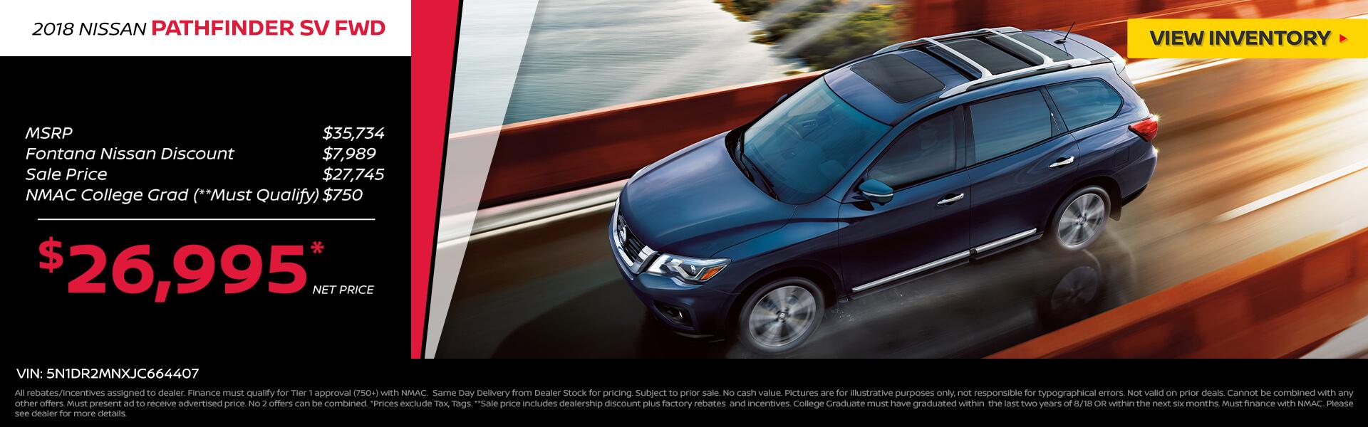 Nissan Pathfinder $26,995 Purchase