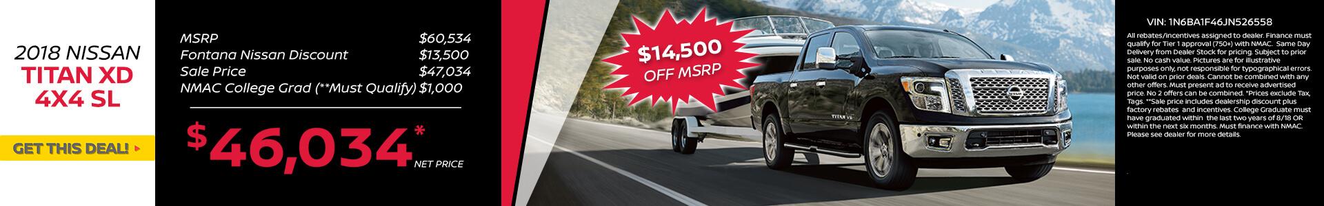 Titan XD $14,500 Off MSRP