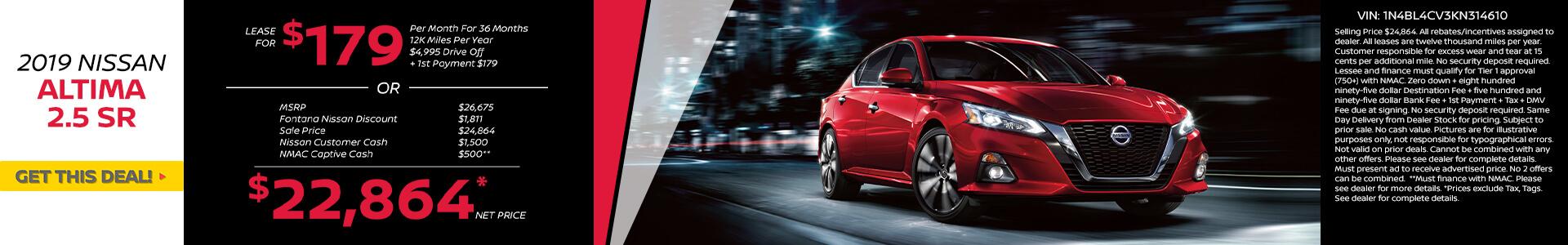 Nissan Altima $179 Lease