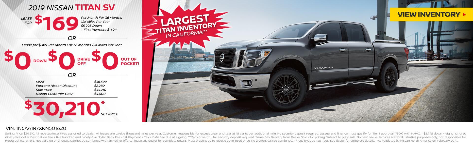 Nissan Titan $169 Lease
