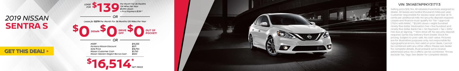 Nissan Sentra $139 Lease