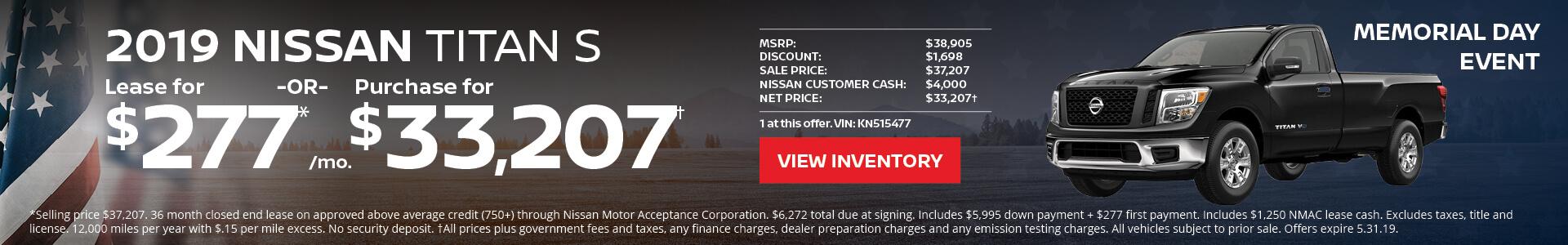 Nissan Titan $277 Lease