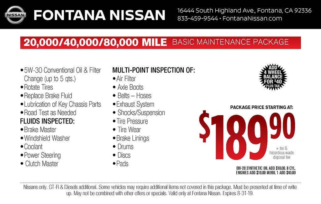 15,000 Basic Maintenance