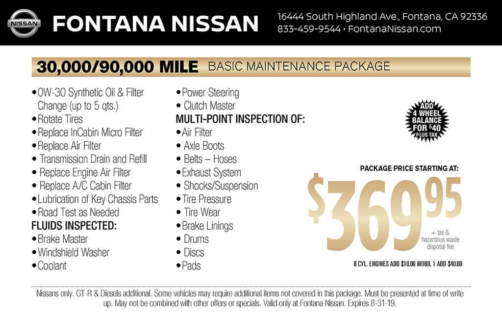 30,000 Basic Maintenance