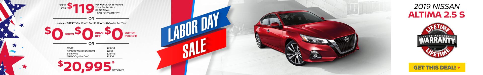 Nissan Altima $119 Lease