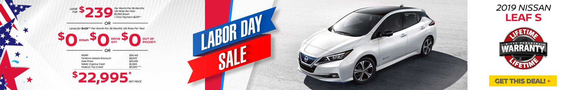 Nissan Leaf $239 Lease