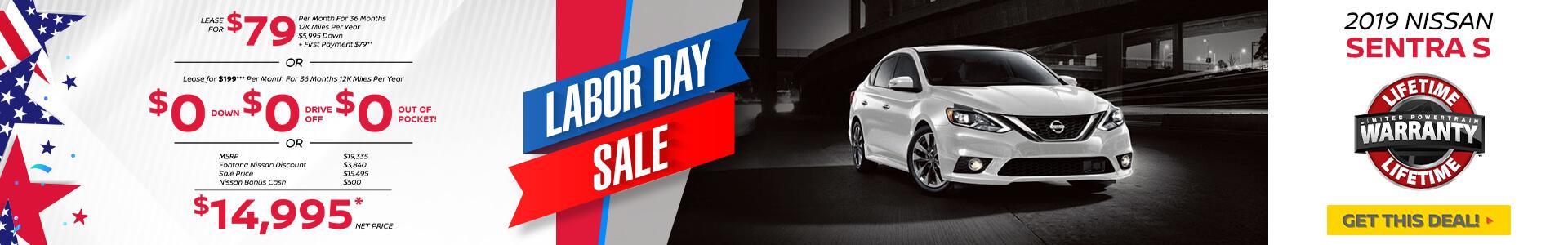 Nissan Sentra $79 Lease