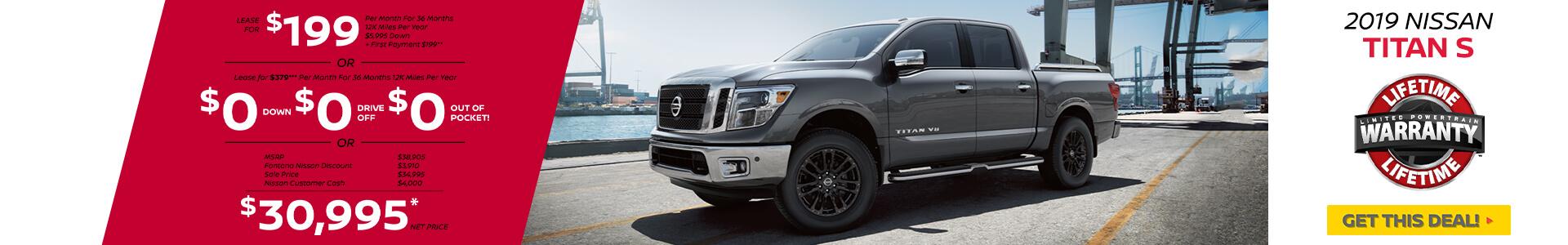 Nissan Titan $199 Lease
