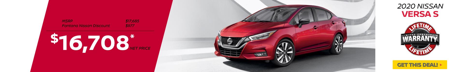 Nissan Versa $16,708 Purchase