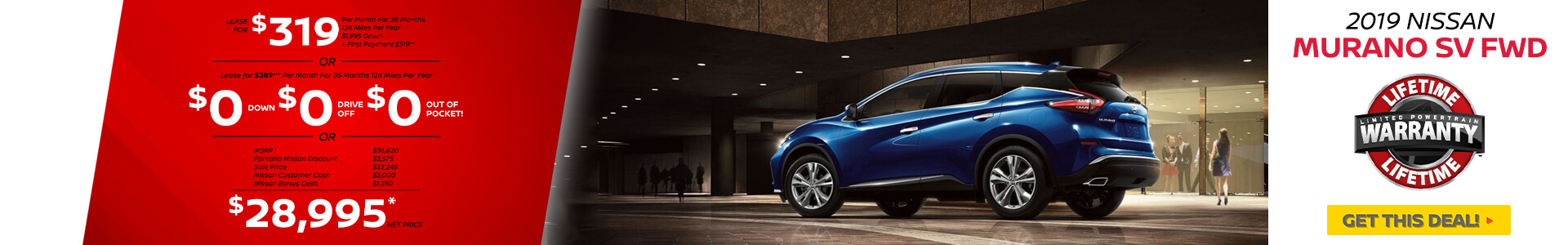 Nissan Murano $319 Lease