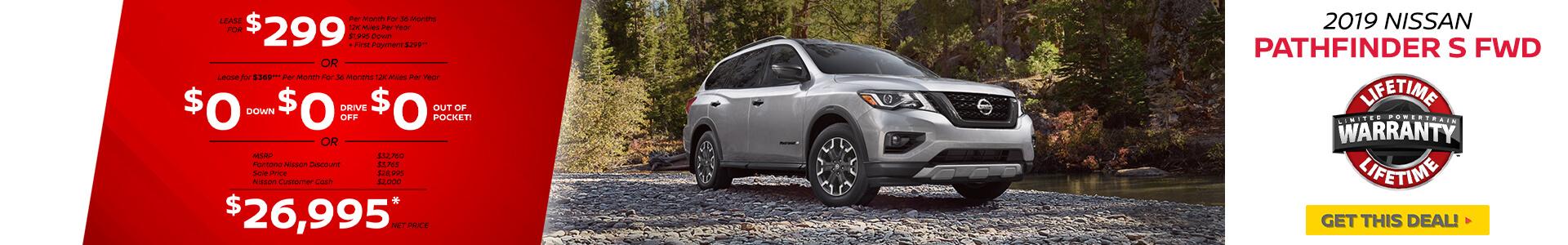 Nissan Pathfinder $299 Lease