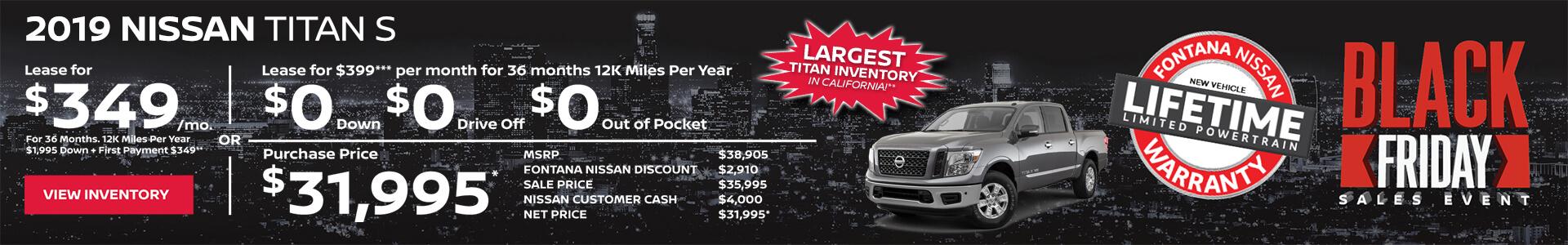 Nissan Titan $349 Lease