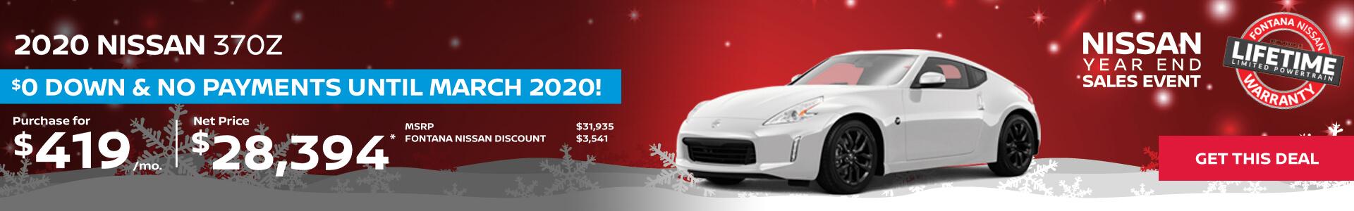 Nissan 370Z $419