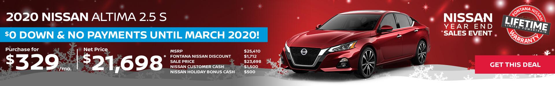 Nissan Altima $329