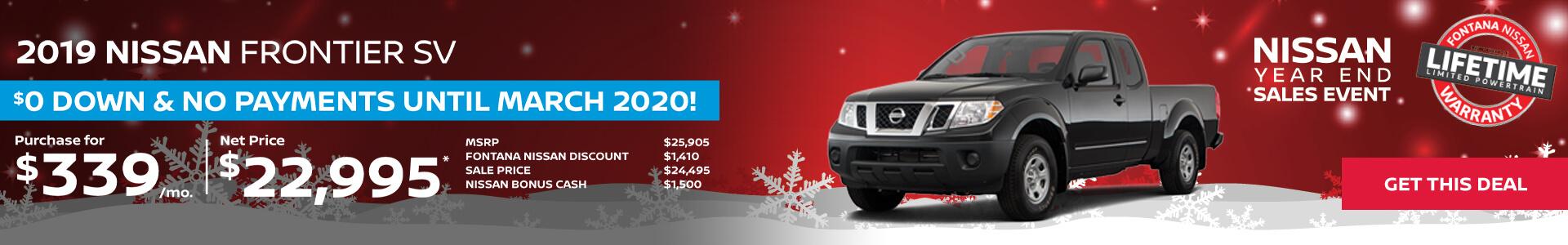 Nissan Frontier $339