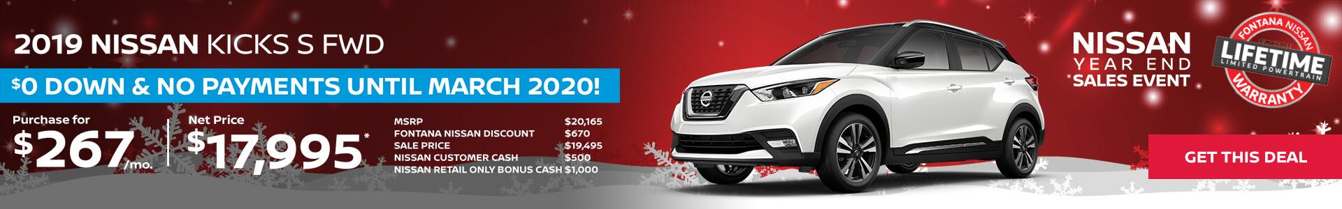 Nissan Kicks $267