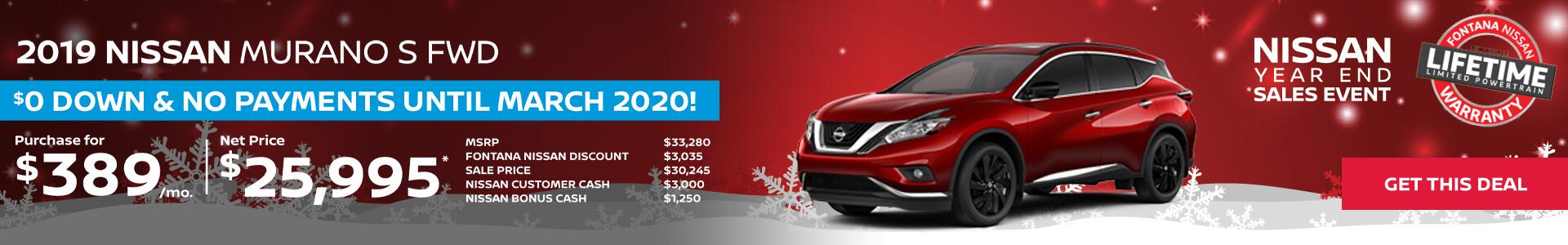 Nissan Murano $389