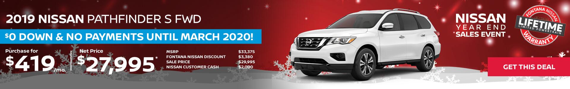 Nissan Pathfinder $419