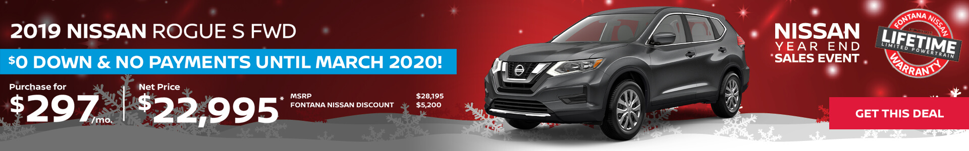 Nissan Rogue $297