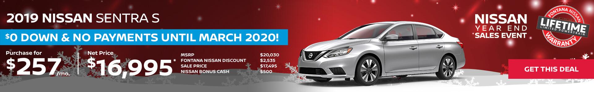 Nissan Sentra $257