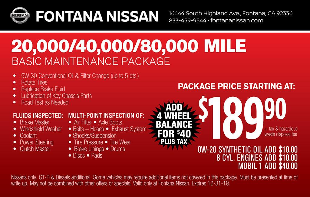 20,000 Basic Maintenance