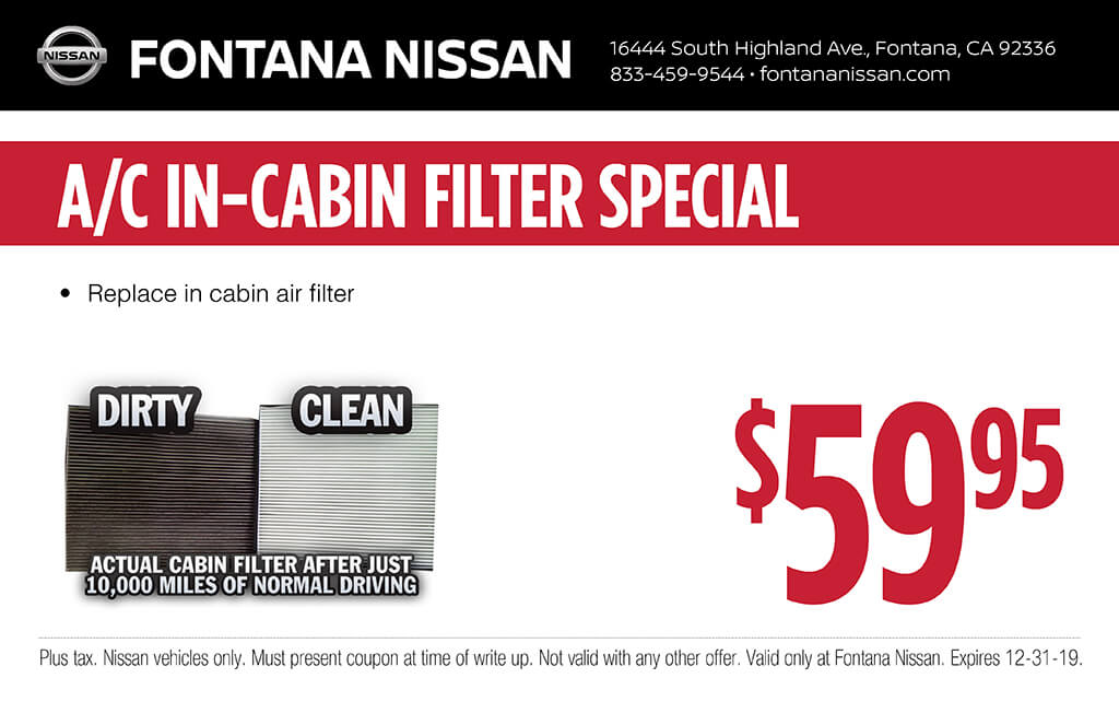 A/C In-Cabin Filter Special