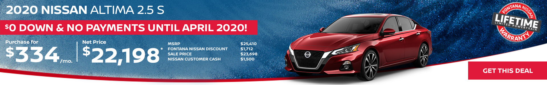 Nissan Altima $334