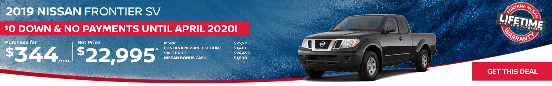 Nissan Frontier $344