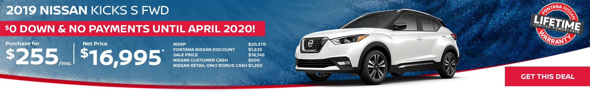 Nissan Kicks $255