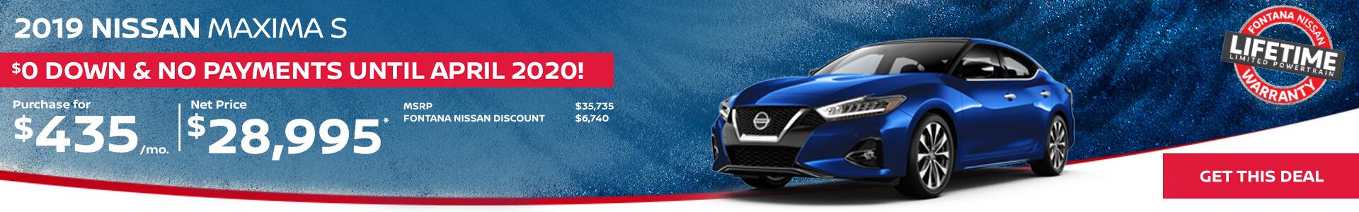 Nissan Maxima $435