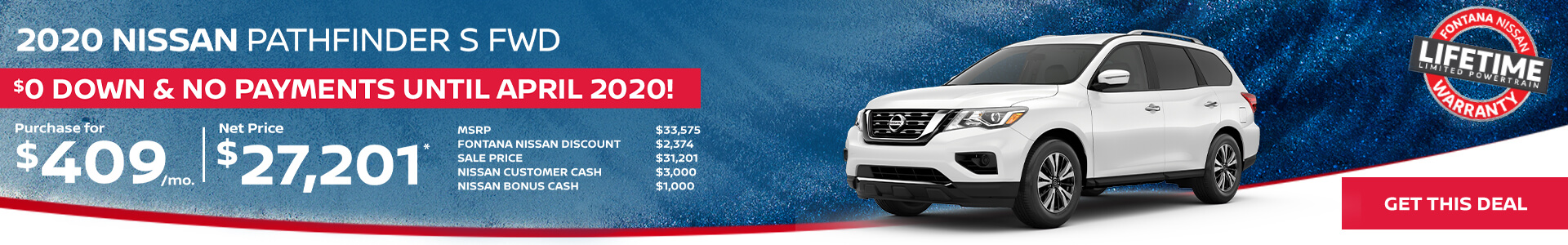 Nissan Pathfinder $409