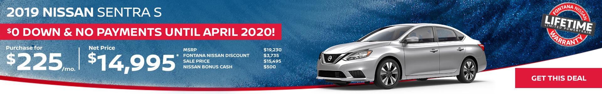 Nissan Sentra $225