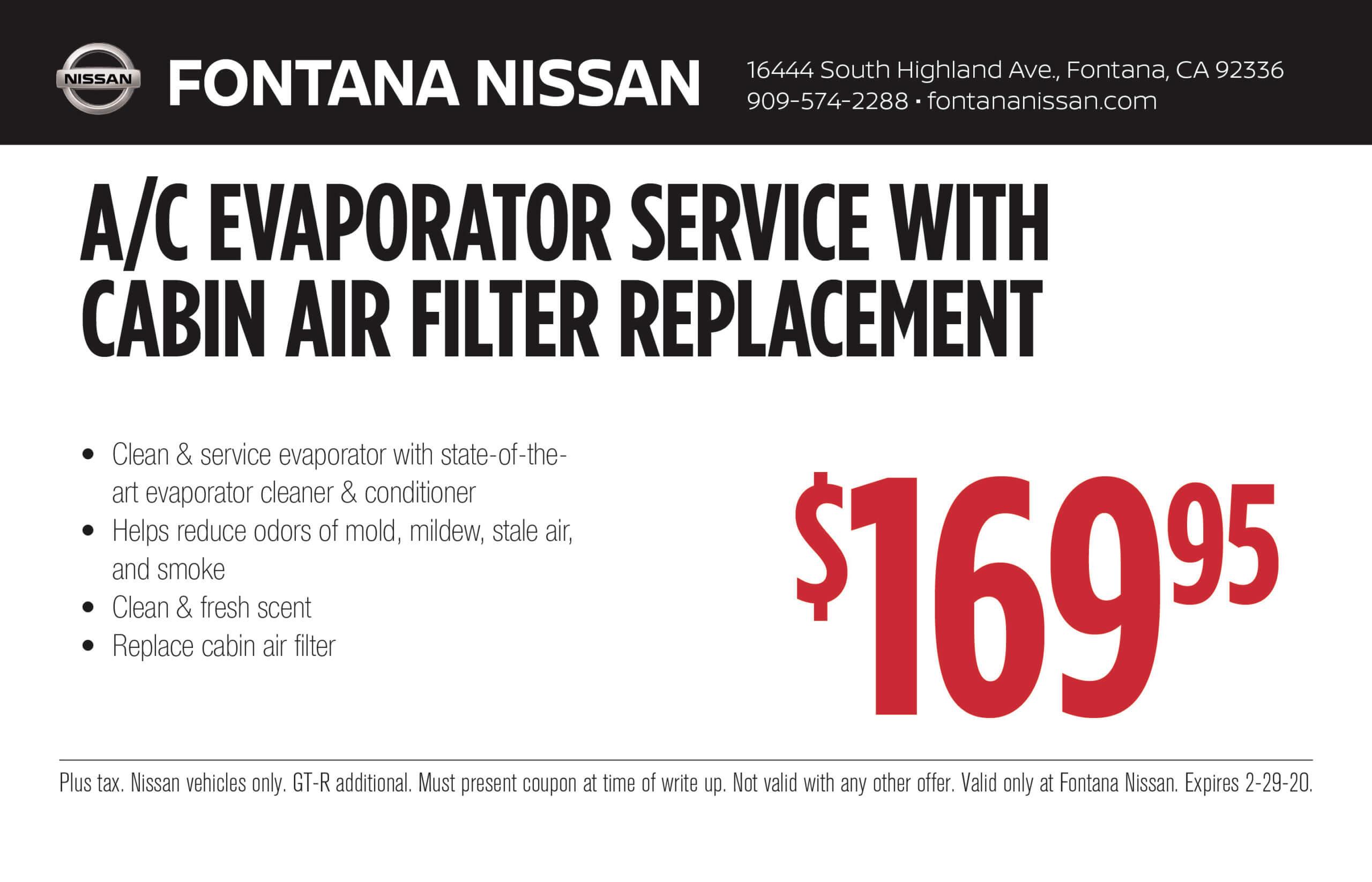 A/C Evaporator Service