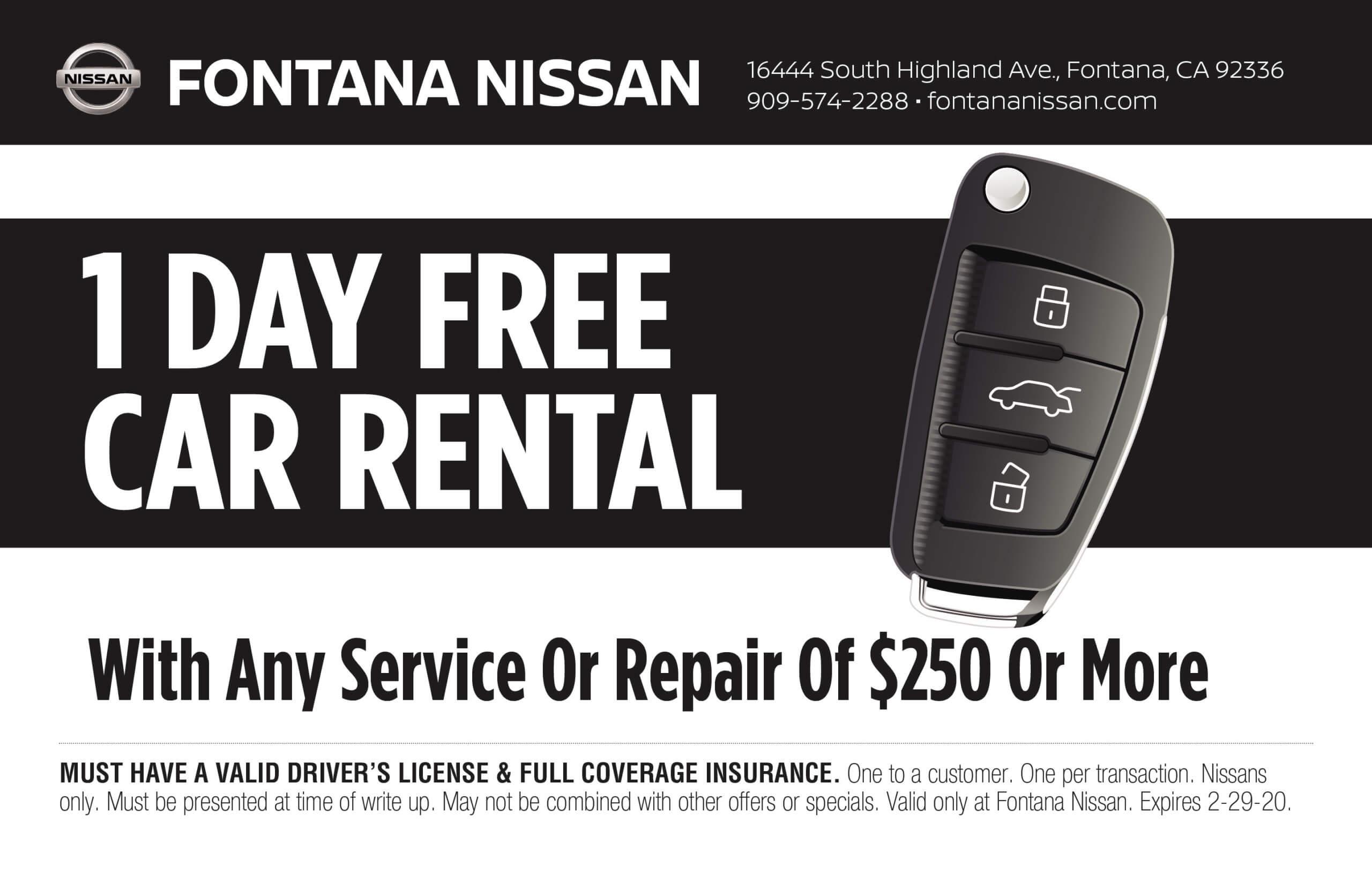 1 Day Free Car Rental