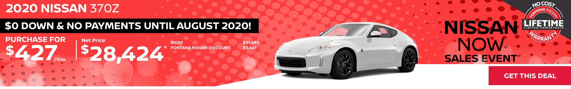 Nissan 370Z $427