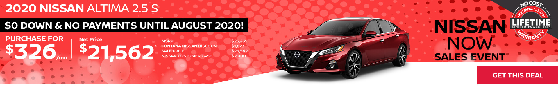 Nissan Altima $326