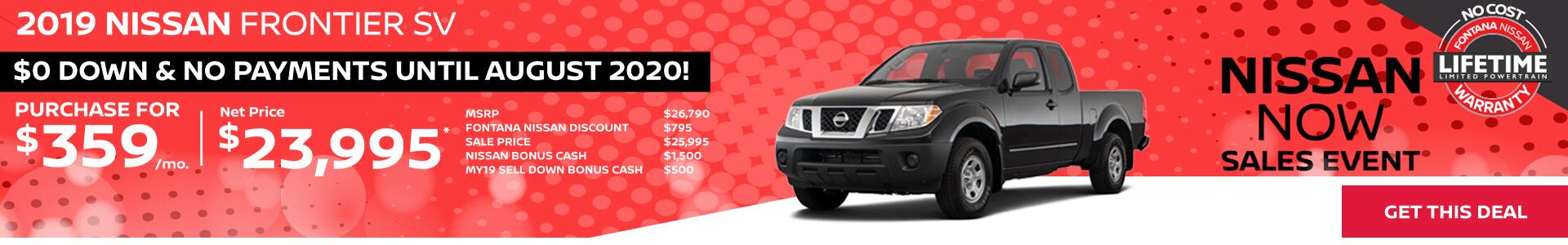 Nissan Frontier $359