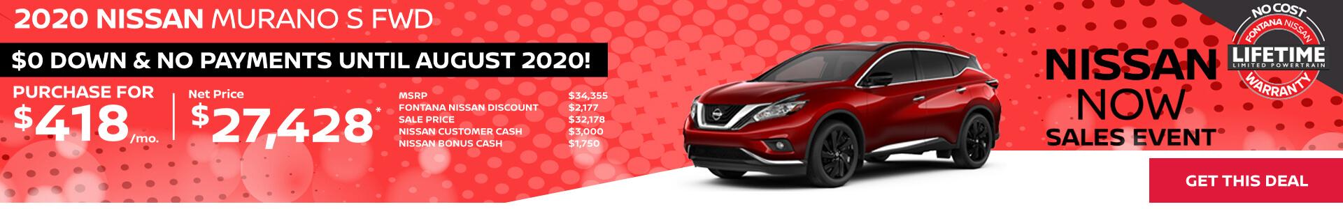 Nissan Murano $418
