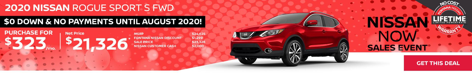 Nissan Rogue Sport $323