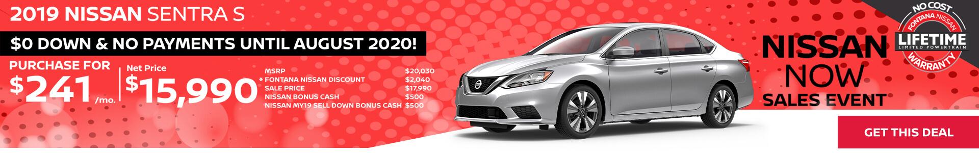 Nissan Sentra $241