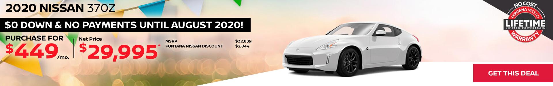 Nissan 370Z $449