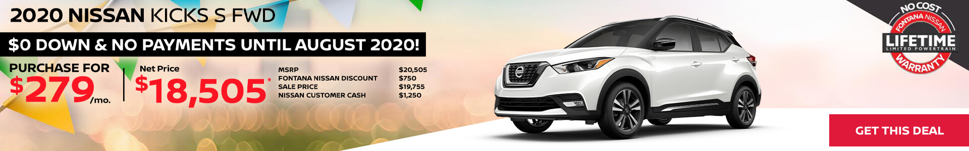 Nissan Kicks $279